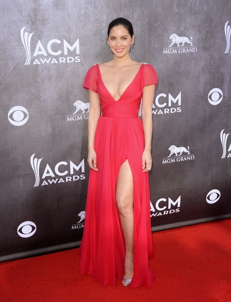 Olivia Munn attends the 49th Annual Academy Of Country Music Awards