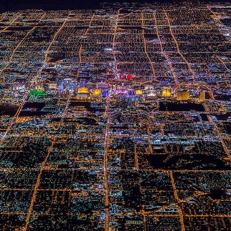 Las Vegas At Night From 8,799 Feet