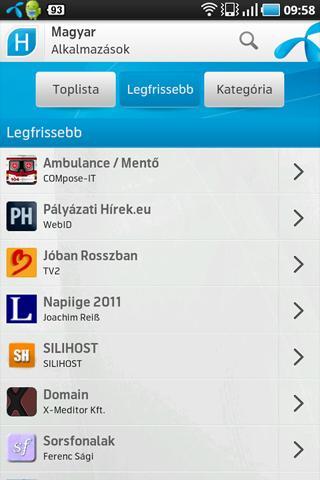 Magyar Alkalmazások- screenshot