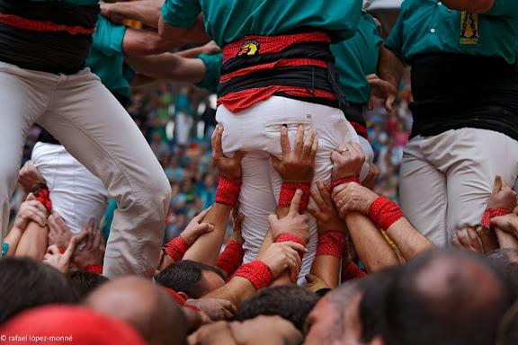Castellers de Sabadell. XXIVè Concurs de Castells de Tarragona. Tarraco Arena Plaça. Tarragona, Tarragonès, Tarragona