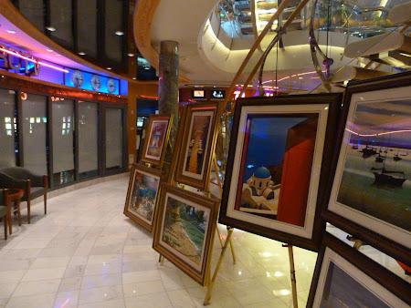 Croaziera Royal Carribean: expozitie pictura pe vas