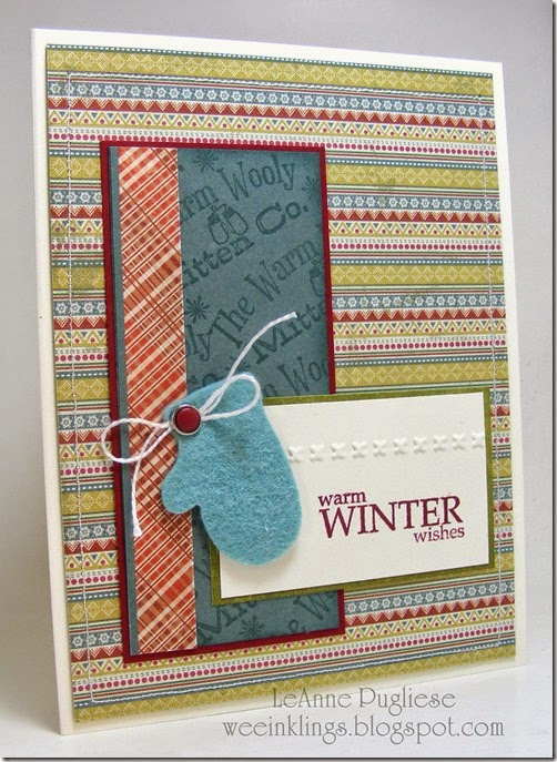 LeAnne Pugliese WeeInklings Warm Winter WIshes Christmas Stampin