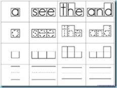 You Can Read Sight Words Box Words Handwriting