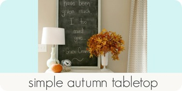 simple autumn tabletop