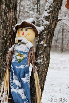 Scarecrow in the snow