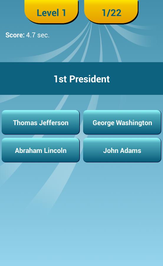 US Presidents Quiz - screenshot