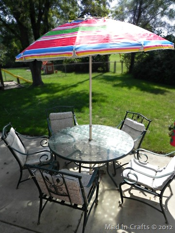 patio set before