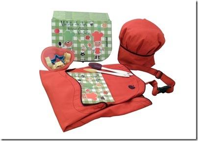 665e8add7 A Mallette du chef, um kit de chef especial para crianças, da Mostrad  Paris, vem com 16 itens (maleta, toque blanche - chapéu de chef, avental, 2  espátulas, ...