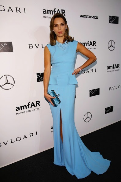 Liliana Matthaeus attends the amfAR Milano 2014