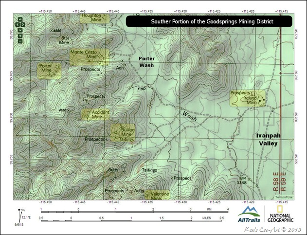 MAP-Southern Goodsprings Mining District