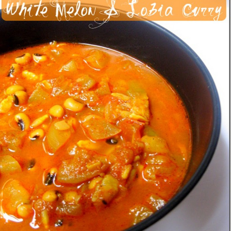 White Melon and Lobia Curry