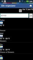 Screenshot of Life Organizer