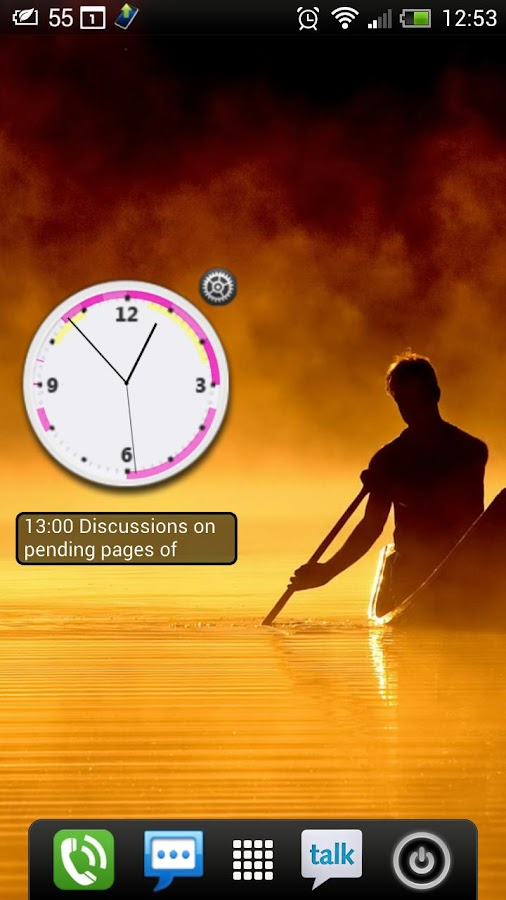 Business Clock Widget - Free- screenshot