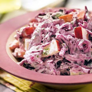Red Cabbage & Apple Coleslaw