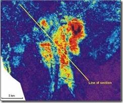 karakteristik peta amplitudo untuk gas sand kelas III
