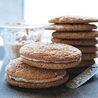 Hazelnut-Cream-Stuffed Snickerdoodle Sandwich Cookies