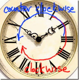 clockwise (red) and counter clockwise (blue)