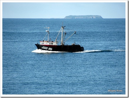 Bluff Oyster boat Southern Enterprise returning with a days dredgings.