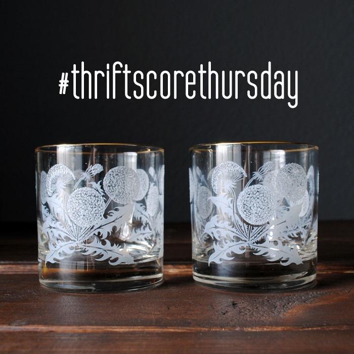 thriftscorethursday week 5 dandelion glass2