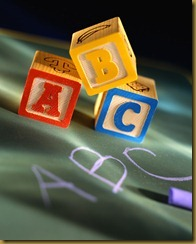 Alphabet Blocks and Chalkboard