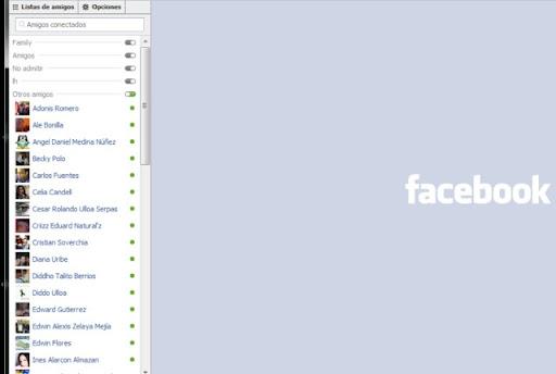 chat antiguo de Facebook