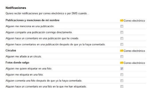 Google+ plus al correo