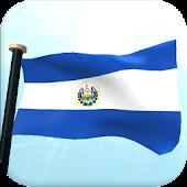 El Salvador Flag 3D Wallpaper