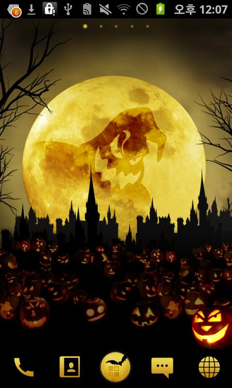 Halloween Moon Night GO Locker - screenshot