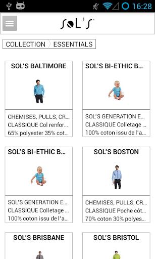 SOL'S : vêtement promotionnel