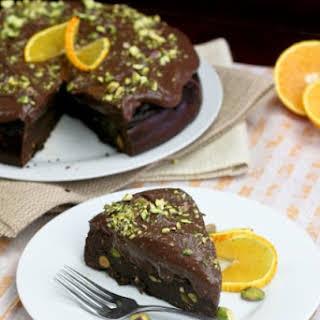 Healthy Flourless Chocolate Orange Cake.