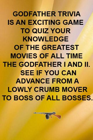 godfather movie trivia android apps on google play