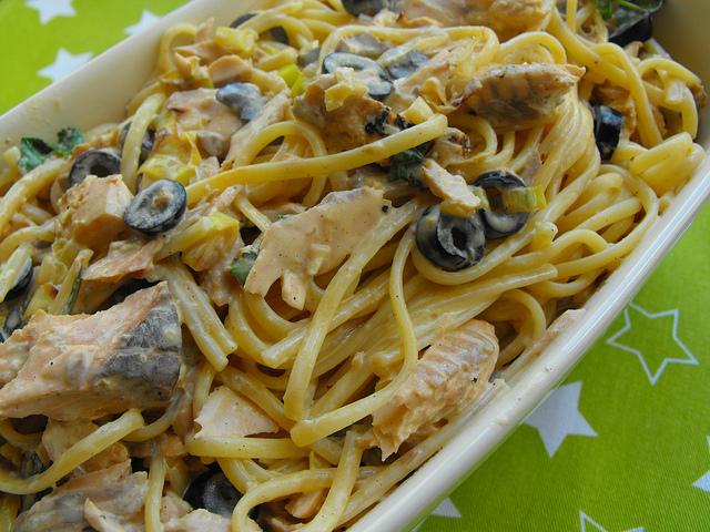 Linguini Carbonara with Salmon Recipe