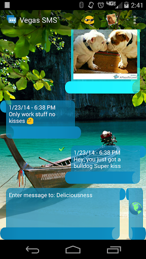 Vegas SMS Scroll Theme