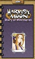 Screenshot of Harvest moon: Karen's Diary