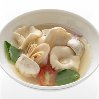 Spiced and Sour Mushroom Soup (Tom Yam Hed)