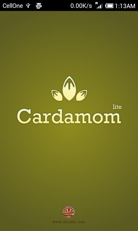 Cardamom : Send vCards via SMS- screenshot