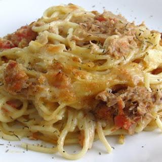 Tuna With Spaghetti In The Oven.
