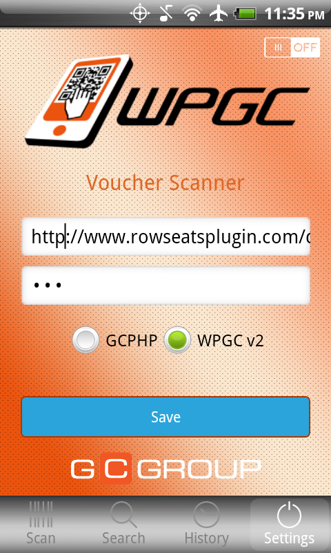 WPGC Scan- screenshot