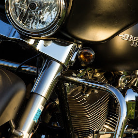 Harley Attitude by Jim Anderson - Transportation Motorcycles ( harley, bike, artistic, light, close up )