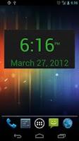 Screenshot of SD DigiClock Widget