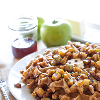 Cinnamon Waffles with Apple Topping