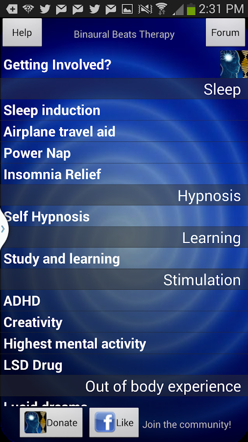 Binaural Beats Therapy - beta - screenshot