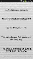 Screenshot of Hand fonts for FlipFont® free