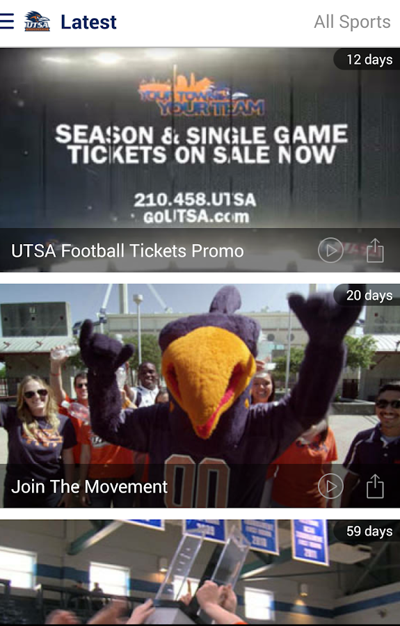 UTSA Athletics: Free - Android Apps on Google Play