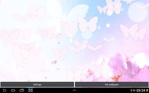 白色的蝴蝶 動態桌布