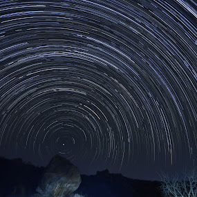Distant Around by Adit Lal - Landscapes Starscapes ( exposure, star, night, long, trails )