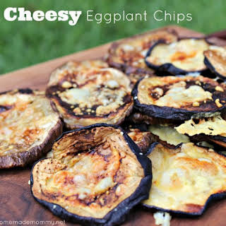 Cheesy Eggplant Chips.