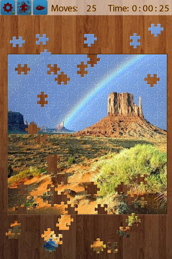 虹のジグソー パズル