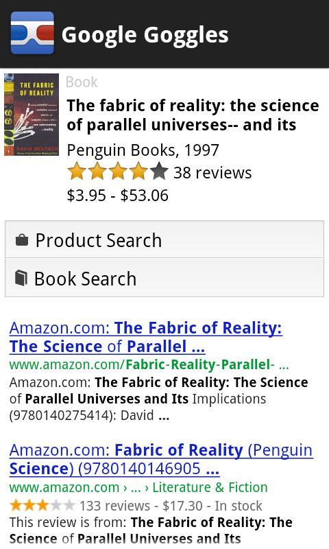 Google Goggles screenshot #5