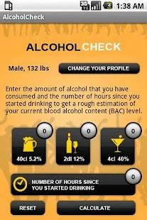 Alcoholcheck - screenshot thumbnail